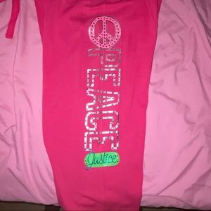 Justice Bottoms - Justice Hot Pink Comfy Joggers
